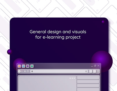 General design and visuals for e-learning project
