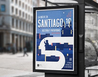 Cartel actividad turística en Santiago de Compostela