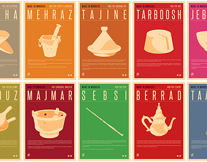 10 posters about Moroccan hand-crafted objects