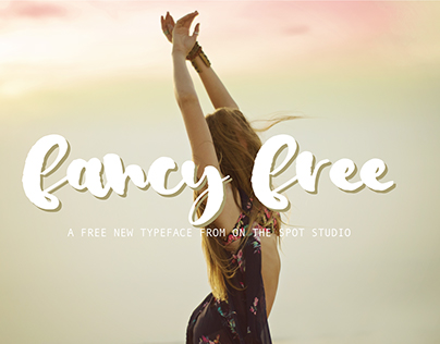 Fancy Free - a FREE brush script font by OTSS