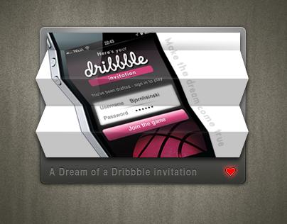 Folding Dribbble invite