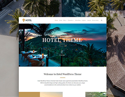 Hotel WordPress Theme - Resort Site Builder