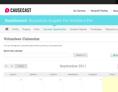 Causecast Nonprofit Portal