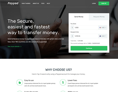 Money Transfer and Online Payments Template