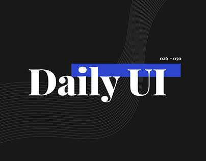 Daily UI Challenge   #026 - #050