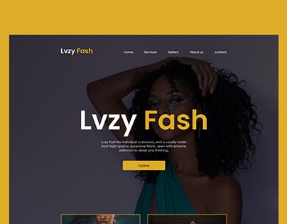 Lvzy Fash Landing page