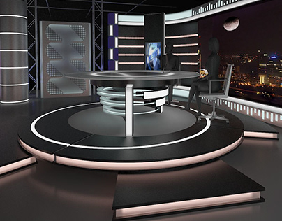 Virtual TV Studio News Set 11