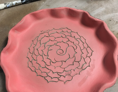 Ceramics 1: 5/2 sgraffito and glazing
