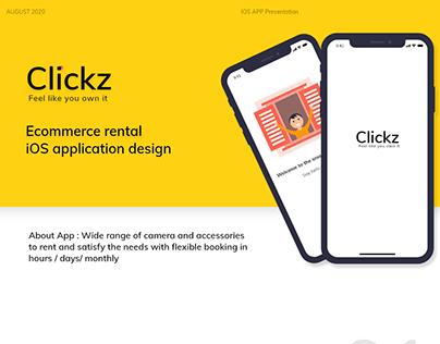 Clickz (Camera rental-IOS App Presentation)