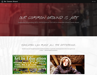 Our Common Ground Website, 2018