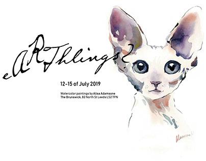 """eArthlings"" Exhibition Poster, Leeds, UK"