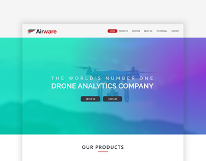 Landing Page for Drone Analytics Company