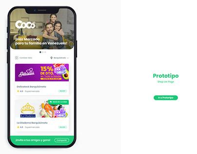 Propuesta de Diseño App Coco