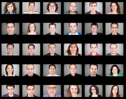 True Faces / digital agency team photo shooting