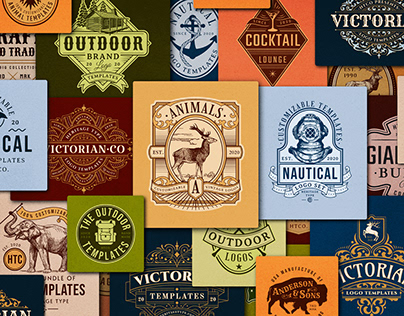 Vintage Logo Collection - 200 Logo & Badge Designs