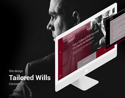 Site design. Tailored Wills