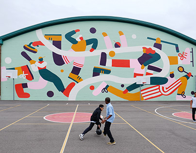 Mural at the Town of Mount Royal Curling Club