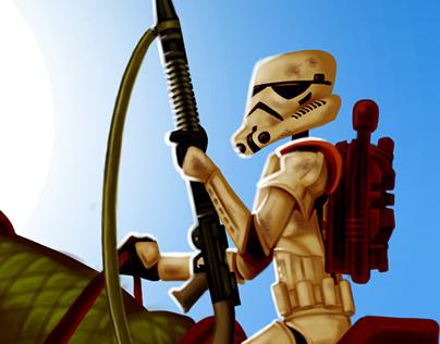 Ilustraciones basadas en Star Wars