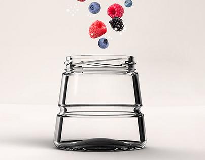 SAMPIA jar - BRUNI GLASS finalist