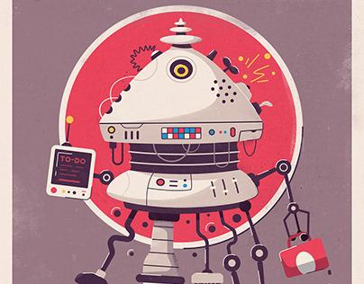Retro futuristic posters