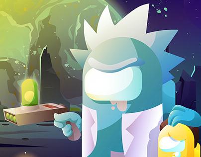 Rick and Morty x Among Us
