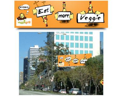 Sumi Ink Billboard Design in Santa Monica