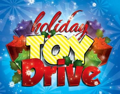 holiday toy drive flyer mailer on behance. Black Bedroom Furniture Sets. Home Design Ideas