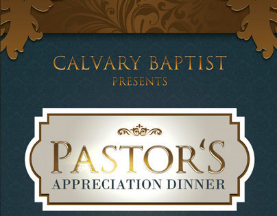 Pastor's Appreciation Dinner Church Flyer and CD on Behance