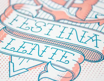 Festina Lente - Letterpress