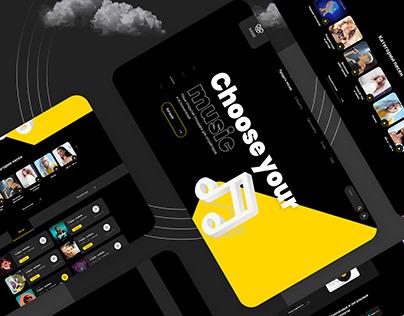 UI/UX design for music site