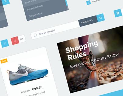 Freebie: Minimalist e-commerce UI kit