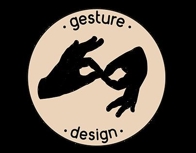 Logo for 'Gesture design'