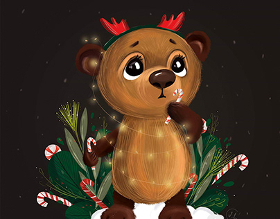 Cute Christmas bear