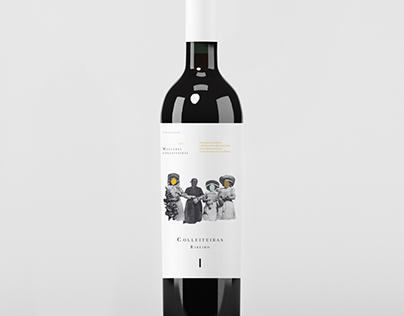 Colleiteiras . Creative wine Label