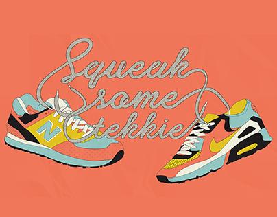 Illustrated Type | Squeak some tekkie