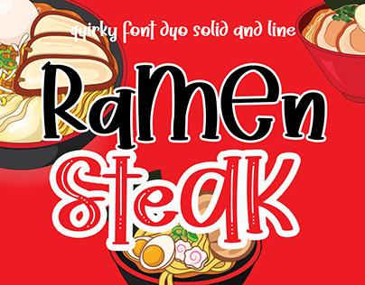 Ramen Steak Playful Font