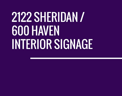 2122 Sheridan / 600 Haven Interior Signage