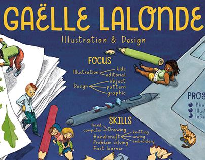 Illustrated Resume Curriculum Vitae Gaelle Lalonde 2017