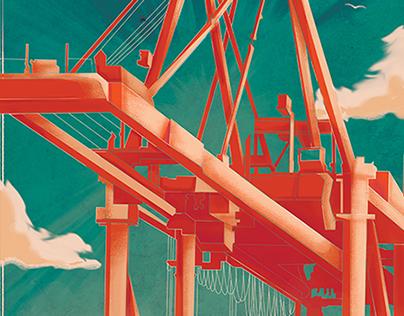 Mississippi Port Authority at Gulfport: Gantry Cranes