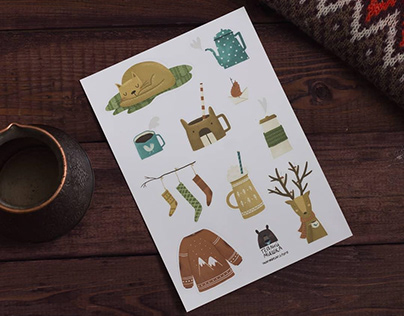 Cozy sticker pack