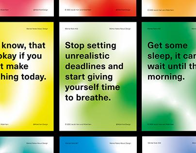 Mental Notes Poster Series