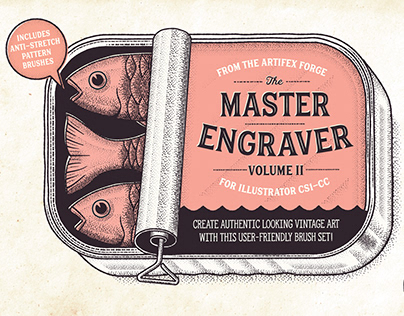 The Master Engraver - Illustrator Brushes