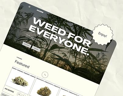 CBD WEED WEBSITE CONCEPT