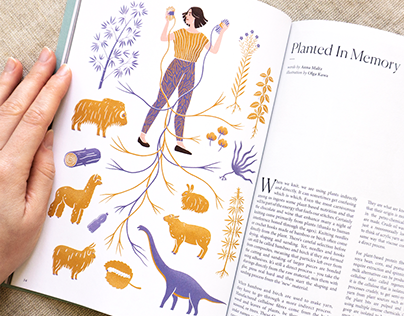 Illustration for a botanical issue of Pom Pom magazine