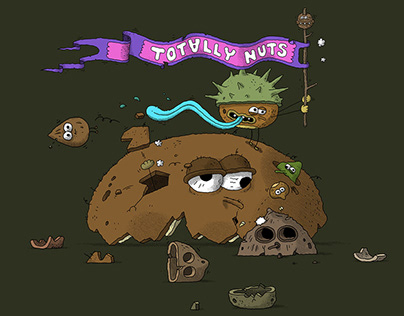 TOTALLY NUTS - Lunch Bag Artwork
