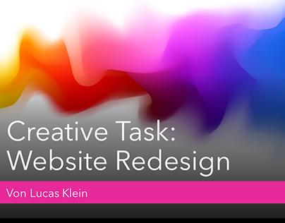 Creative Task: Website Redesign