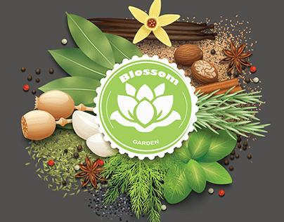 Restaurant Logo -flower Flat logo