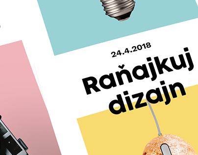 Event posters: Raňajkuj dizajn