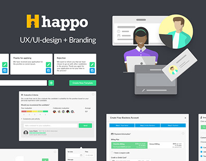 Happo: Web-app UX/UI-design & Branding