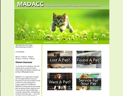 MADACC website redesign